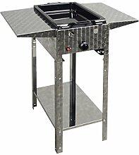 Gasbräter 4 kW Standmodell mit emaillierter Stahlpfanne und Abstellplatten 1-flammig Gasgrill Grill Gastrobräter Profigrill Verein