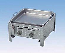 Gasgrill 2-flammig mit 7,3 KW regelbar Tischgerät