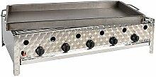 Gasgrill-Kombibräter 5-flammig (20 kW) mit Grillrost und Stahlpfanne Gasgrill Gasbräter Grill