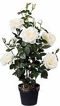 Gasper Künstliche Rosen Pflanze Blumen Rosenstock