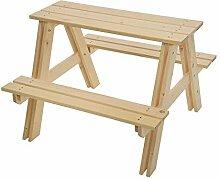 GASPO Kindersitzgruppe aus massivem Holz, 80 x 80
