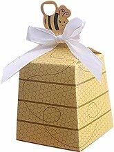 Gastgeschenk, 60Stück, Boxen mit Bienen-Motiv,
