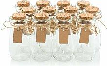 Gastgeschenk Gläser mit Korkdeckel -