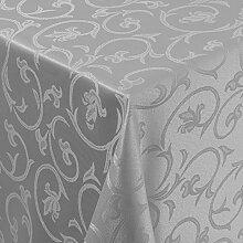 Gastro Barock Tischdecke Eckig 130x220 cm Grau /
