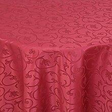 Gastro Barock Tischdecke Rund 220 cm Dunkelrot/Rot