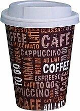 Gastro-Bedarf-Gutheil 100 Kaffeebecher Pappe 250ml