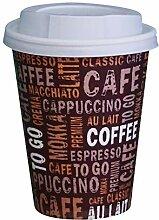 Gastro-Bedarf-Gutheil 100 Kaffeebecher Pappe 300ml