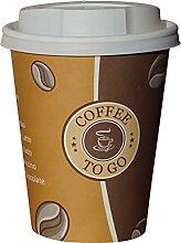 Gastro-Bedarf-Gutheil 100 Pappbecher Coffee to go