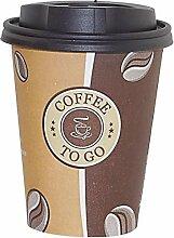Gastro-Bedarf-Gutheil 200 Pappbecher Top Coffee