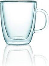 Gastro Glas Serie ENJOY, doppelwandig, Teeglas mit