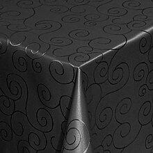 Gastro Ornamente Tischdecke Eckig 130x280 cm Schwarz mit Saumrand - Größe & Farbe wählbar