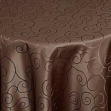 Gastro Ornamente Tischdecke Oval 160x280 cm