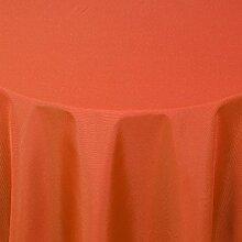 Gastro UNI Tischdecke Oval 160x220 cm Dunkelterra - mit Saumrand - Farbe & Größe wählbar