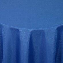 Gastro UNI Tischdecke Rund 220 cm Dunkelblau / Blau - mit Saumrand - Farbe & Größe wählbar