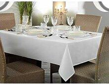 Gastro Uzal Damast Tischdecke weiß mit Atlaskante