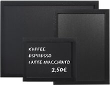 Gastro Wandtafel schwarz PVC, 400 x 300 mm