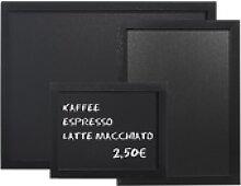 Gastro Wandtafel schwarz PVC, 600 x 400 mm