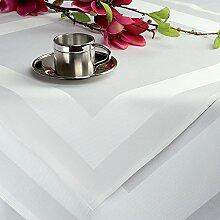 Gastronomie - Damast Tischdecke weiss ca. 240 x