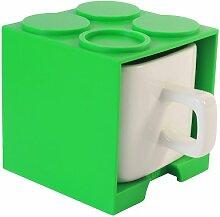 Gattola Groß aus Keramik Cube Becher, grün