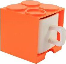 Gattola Würfel-Becher aus Keramik in Orange