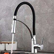 GAVAER Wasserhahn Küche Schwarz,Küchenarmatur