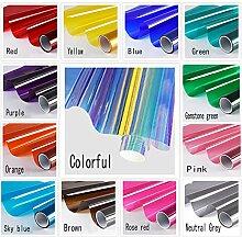 GAWOOW farbige dekorative Glasfolie Isolierung