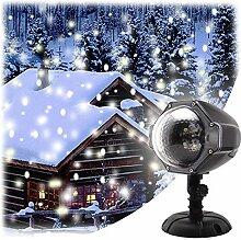 GAXmi Schnee fällt Licht Weihnachten Weiß