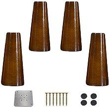 GAXQFEI 4 Walnuss Küchenschrank Beine Massivholz