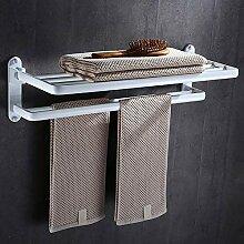 GAXQFEI Handtuchhalter, Doppel Handtuch Regal,