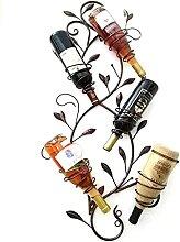 GAXQFEI Industrielle Metall Wandweinhalter Wein