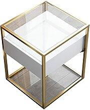 GAXQFEI Nachttisch Side Tabelle Gehärtetes