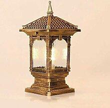 GAXQFEI Post Lights Glas Villa Light