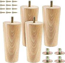 GAXQFEI Set Von 4 13Cm Massivholz Möbelbeine