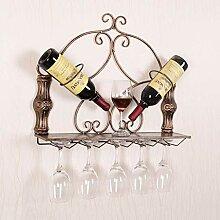 GAXQFEI Weinglasstand Kreative Eisen Weinregal