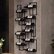 GAXQFEI Weinregal Black Metal Wine Storage Rack