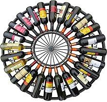 GAXQFEI Weinregal Runde Freistehende 24 Flasche