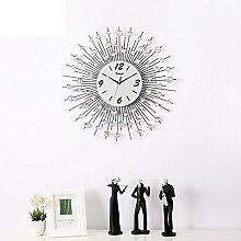 GAYY Einfache Wroughtron Dekoration Wohnzimmer Ideen Uhr Stumm Quarz Uhr / Moderne Europäische Wand Diagramme,C