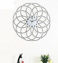 GAYY Wohnzimmer-Ideen Einfache Wroughtron Dekoration Silent Clock / Moderne Europäische Wand-Charts,A,20Inch