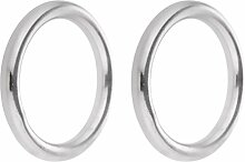 Gazechimp 1 Paar Rundring aus hochwertigem Edelstahl O Ring Bootsport Hardware Hängematte Befestigung Ringe - 6 x 60mm