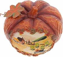 Gazechimp 1 pcs Lebensechte Kürbis Modell Perfekte Geschenk Dekoration für Halloween Party Gartendekor - Orange