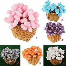 Gazechimp 100x Herzförmige Kunstblumen Hochzeit Geburtstag Garten Geschenk Dekor aus Schaum - pink