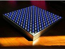 Gazechimp 15W Pflanze Wachsen Licht LED Grow Pflanzenlampe in Flacher Ausführung mit 225 LEDs - Weiß Blau
