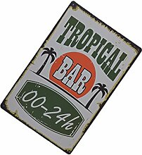 Gazechimp 20x30cm Vintage Metall Blechschild Kunstplakat Café Bar Pub Platte 20 Ver. Muster - Muster 12, 20x30cm