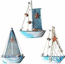 Gazechimp 3 Stück Maritime Segelboot Dekoration für Haus oder Büro