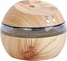 Gazechimp 300ml LED Ultraschall Luftbefeuchter Aroma Diffusor, Müdigkeit zu Entlasten und Schlafen zu helfen, 3-in-1 - Naturholz