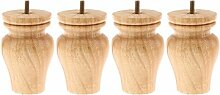 Gazechimp 4 Stück Holz für Möbelfüße Füße