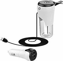 Gazechimp 50ml Auto Luftbefeuchter Aroma Öl Diffusor mit 12V Kfz-Ladegerät USB - Silber