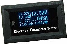 Gazechimp 7 In 1 OLED Panel Mini Digital Voltmeter Digital Voltmeter Spannungsanzeige - 33V 3A Blau