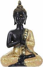 Gazechimp Chinesisch Budda Sakyamuni Arhat Damo Meditation Skulptur Figur Statue Resin Fengshui Dekoration - #8, 15.5*6*10.5cm
