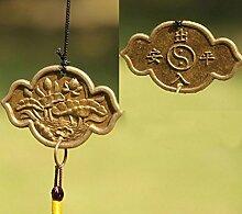 Gazechimp Chinesisch Stil Lotus Metall Glocke